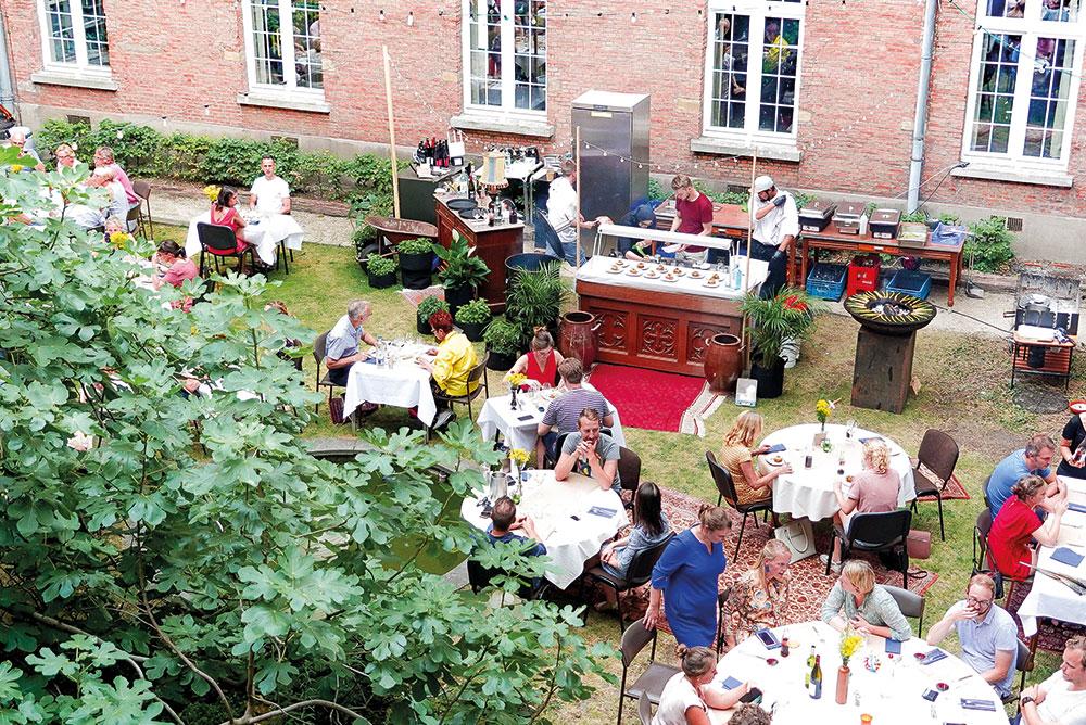 Binnentuin Mechelen Feestzalen Catering
